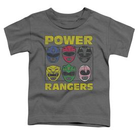 Power Rangers Ranger Heads Short Sleeve Toddler Tee Charcoal T-Shirt