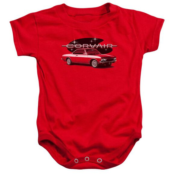Chevrolet 65 Corvair Mona Spyda Coupe Infant Snapsuit Red