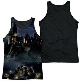 Harry Potter Hogwarts Adult Poly Tank Top Black Back