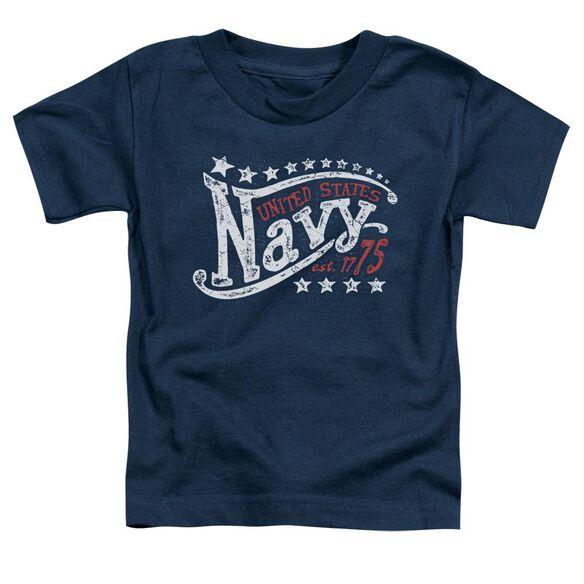 Navy Stars Short Sleeve Toddler Tee Navy T-Shirt
