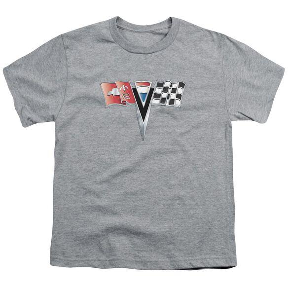 Chevrolet 2 Nd Gen Vette Nose Emblem Short Sleeve Youth Athletic T-Shirt