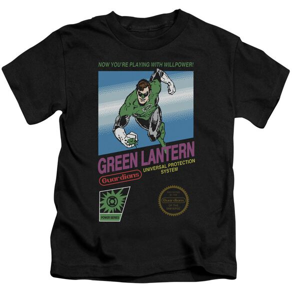 Green Lantern Box Art Short Sleeve Juvenile Black T-Shirt