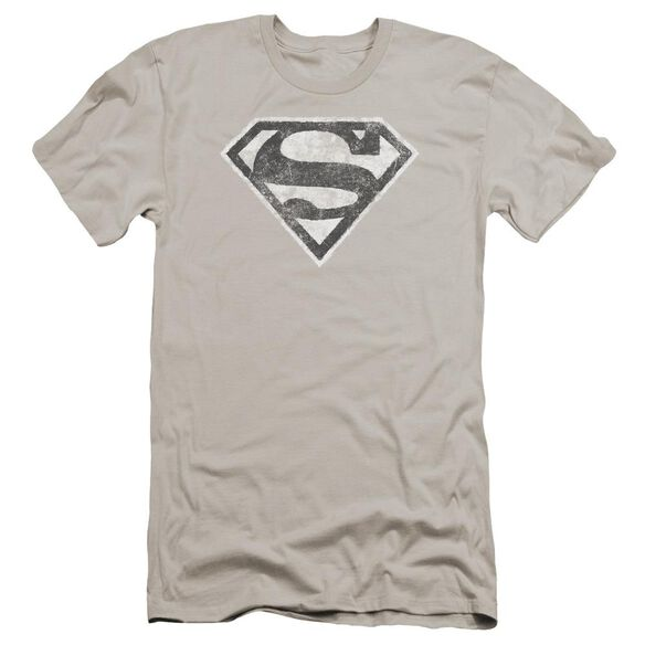Superman Grey S Premuim Canvas Adult Slim Fit