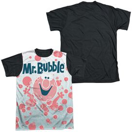 Mr Bubble Clean Sweep Short Sleeve Adult Front Black Back T-Shirt