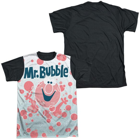 Mr Bubble Bubbles Everywhere Short Sleeve Adult Front Black Back T-Shirt