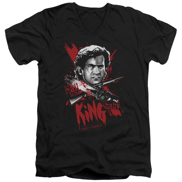 Army Of Darkness Hail To The King Short Sleeve Adult V Neck T-Shirt
