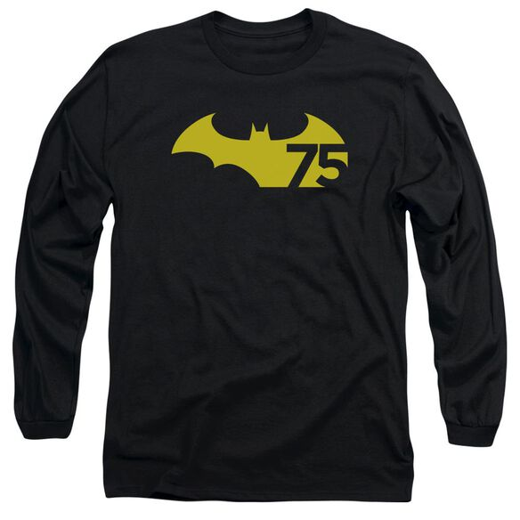 Batman 75 Logo 2 Long Sleeve Adult T-Shirt