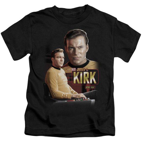 Star Trek Captain Kirk Short Sleeve Juvenile Black T-Shirt