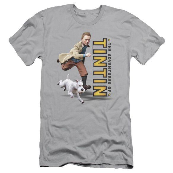 Tintin Come On Snowy Short Sleeve Adult T-Shirt