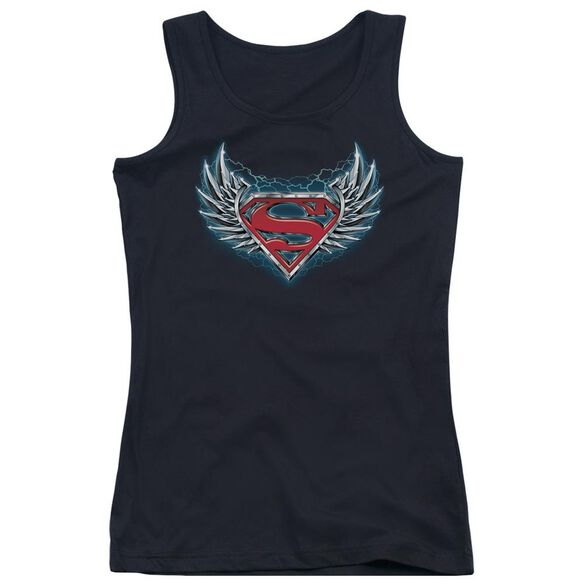 Superman Steel Wings Logo Juniors Tank Top