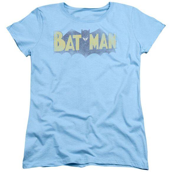 Batman Vintage Logo Short Sleeve Womens Tee Light T-Shirt