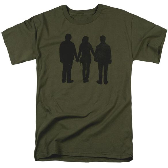Harry Potter Three Stand Alone Short Sleeve Adult Military T-Shirt