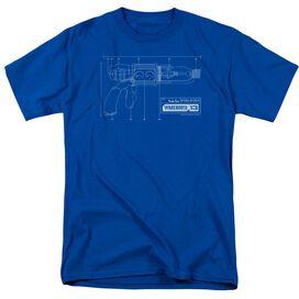 WAREHOUSE 13 TESLA GUN - S/S ADULT 18/1 - ROYAL BLUE T-Shirt