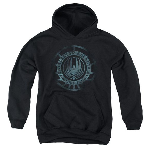 Battlestar Galactica (New) Faded Emblem Youth Pull Over Hoodie
