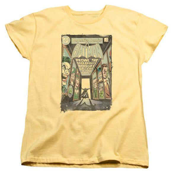 BATMAN ROGUES GALLERY COVER - S/S WOMENS TEE - BANANA T-Shirt