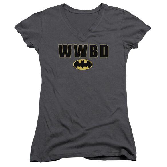Batman Wwbd Logo Junior V Neck T-Shirt