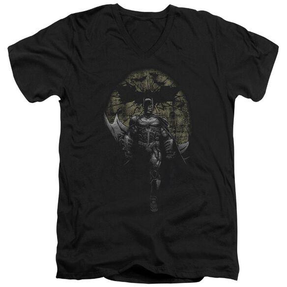 Dark Knight Rises Distressed Dark Knight Short Sleeve Adult V Neck T-Shirt
