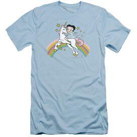 Betty Boop Unicorn & Rainbows Short Sleeve Adult Light T-Shirt