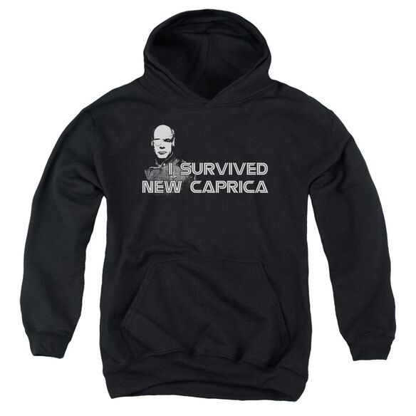 Bsg I Survived New Caprica Youth Pull Over Hoodie