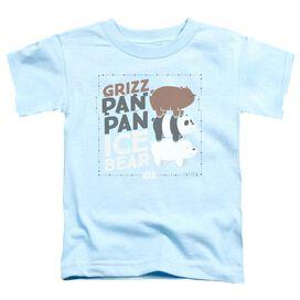 We Bare Bears Grizz Pan Pan Ice Bear Short Sleeve Toddler Tee Light Blue T-Shirt