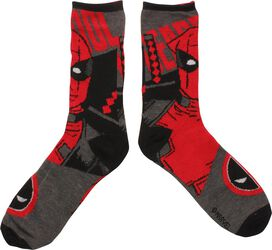 Deadpool Bust Reversible Crew Socks