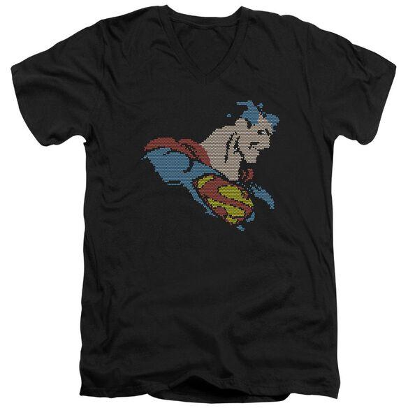 Dc Lite Brite Superman Short Sleeve Adult V Neck T-Shirt