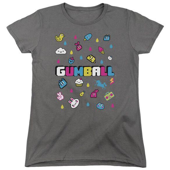 Amazing World Of Gumball Fun Drops Short Sleeve Womens Tee T-Shirt