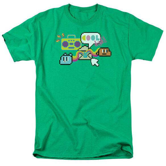 Amazing World Of Gumball Cool Oh Yeah Short Sleeve Adult Kelly Green T-Shirt