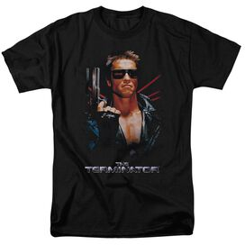 Terminator Poster Short Sleeve Adult Black T-Shirt