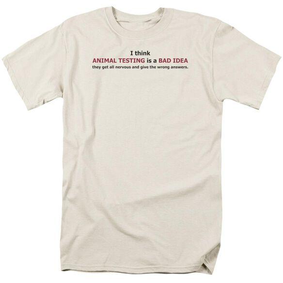 Animal Testing Short Sleeve Adult Cream T-Shirt