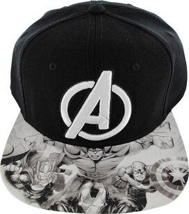 Avengers Logo Sketch Visor Hat