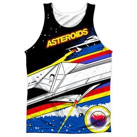 Atari Asteroids Arcade Adult Poly Tank Top