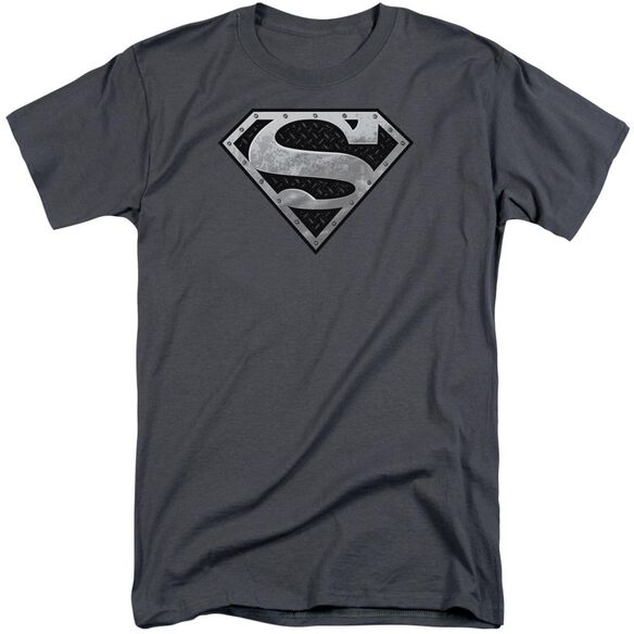 Superman Super Metallic Shield Short Sleeve Adult Tall T-Shirt