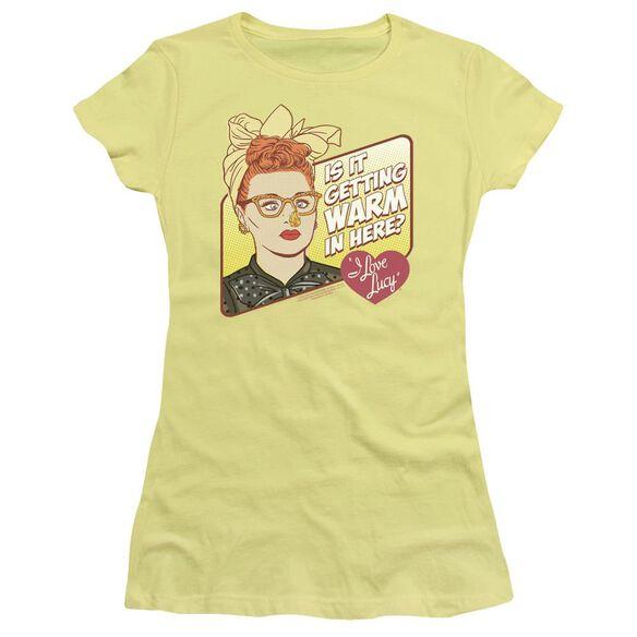 I LOVE LUCY WARM IN HERE - S/S JUNIOR SHEER - BANANA T-Shirt