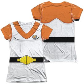 Voltron Hunk Costume (Front Back Print) Short Sleeve Junior Poly Crew T-Shirt