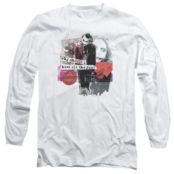 Dark Knight Share The Joy Long Sleeve Adult T-Shirt