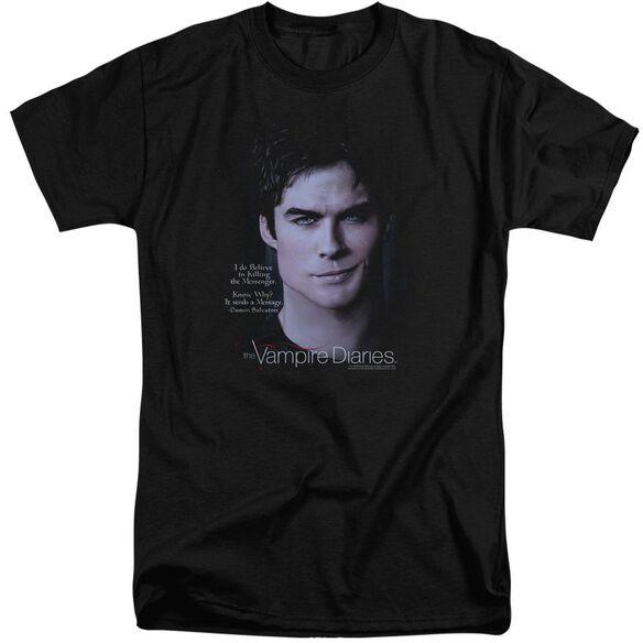 Vampire Diaries Messenger Short Sleeve Adult Tall T-Shirt