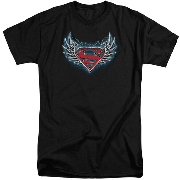 Superman Steel Wings Logo Short Sleeve Adult Tall T-Shirt