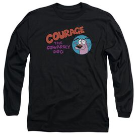 Courage The Cowardly Dog Courage Logo Long Sleeve Adult T-Shirt
