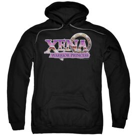 Xena Logo Adult Pull Over Hoodie Black