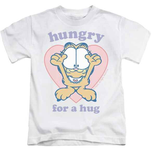 Garfield Hungry For A Hug Short Sleeve Juvenile White T-Shirt