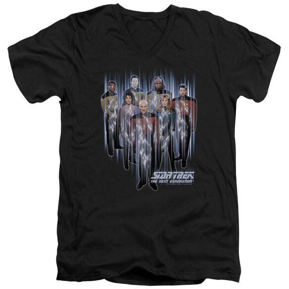 STAR TREK BEAM US UP - S/S ADULT V-NECK - BLACK T-Shirt