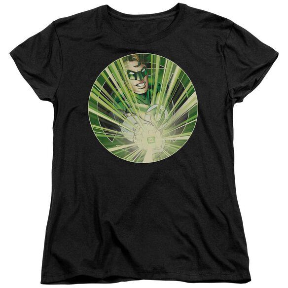 Green Lantern Light Em Up Short Sleeve Womens Tee T-Shirt