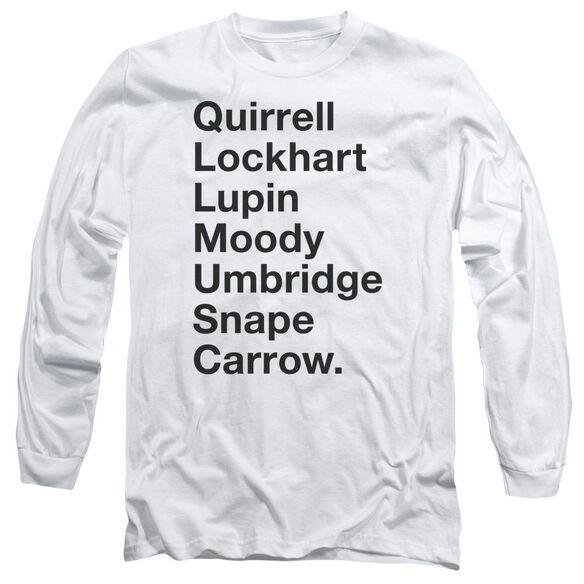 Harry Potter Professors Long Sleeve Adult T-Shirt