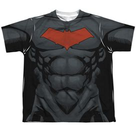 Batman Red Hood Style 2 Short Sleeve Youth Poly Crew T-Shirt