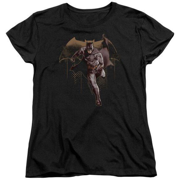Justice League Movie Caped Crusader Short Sleeve Womens Tee T-Shirt