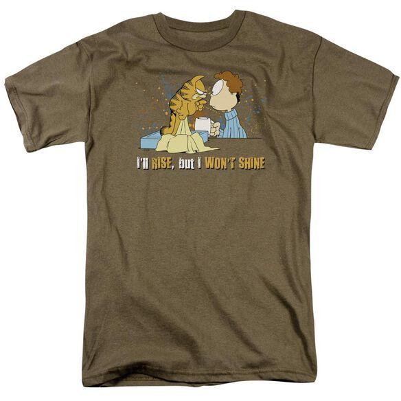 GARFIELD ILL RISE - S/S ADULT 18/1 - SAFARI GREEN T-Shirt