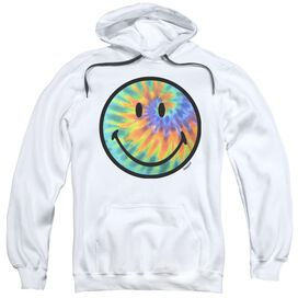 Smiley World Tie Dye Face Adult Pull Over Hoodie