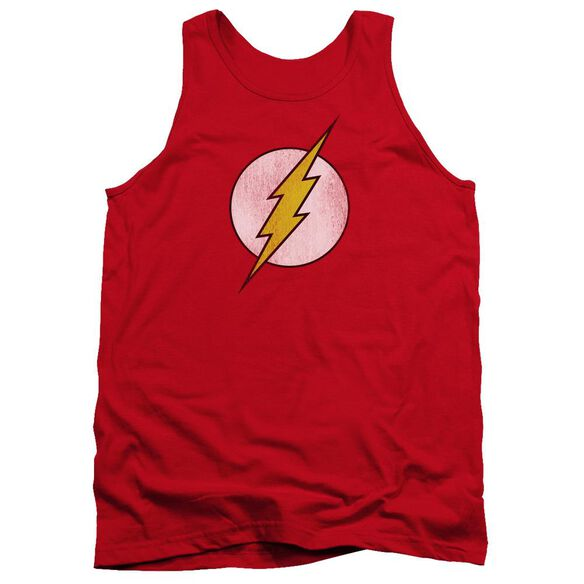 Dc Flash Flash Logo Distressed Adult Tank