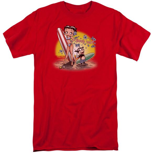 Betty Boop Surf Short Sleeve Adult Tall T-Shirt